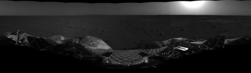 First Look at Spirit on Mars. This mosaic image taken by the navigation camera on the Mars Exploration Rover Spirit has been further processed, resulting in a significantly improved 360 degree panoramic view of the rover on the surface of Mars. Photo by NASA/JPL.