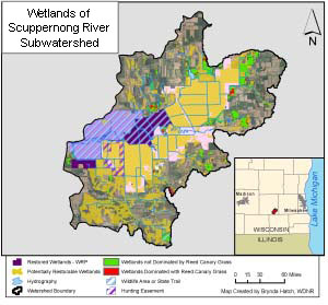 Example of wetland restoration project tracking from the Wisconsin Department of Natural Resources' Natural Resource Tracking Database.