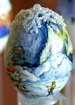 Painted egg by Diane Gill, Anchorage, AK
