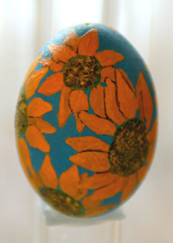 Painted egg by Bonnie Windle, Luray, KS