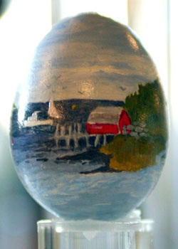 Painted egg by Brad McFadden, Orrs Island, ME