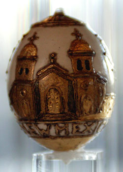 Painted egg by Ilse Magener, Magdalena, NM
