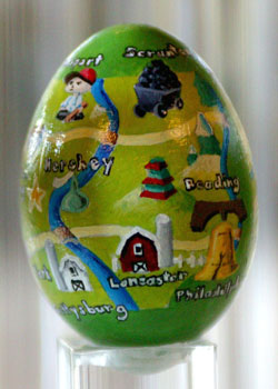 Painted egg by Jason Mercer, Honeybrook, PA