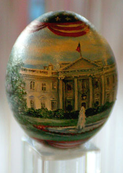Painted egg by Pawinee McEntire, Fairfax, VA