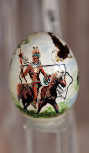painted egg by Ms. Ellie Radcliff, West Des Moines, IA