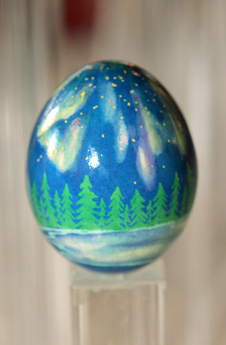 painted egg by Ms. Rebecca Utecht, Mora, MN