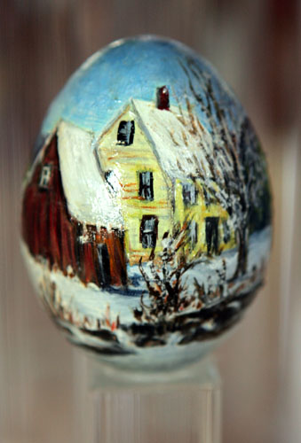 painted egg by Ms. Heidi Hernes, Alstead, NH