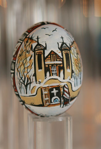 Painted and Decorated Egg Representing New Mexico