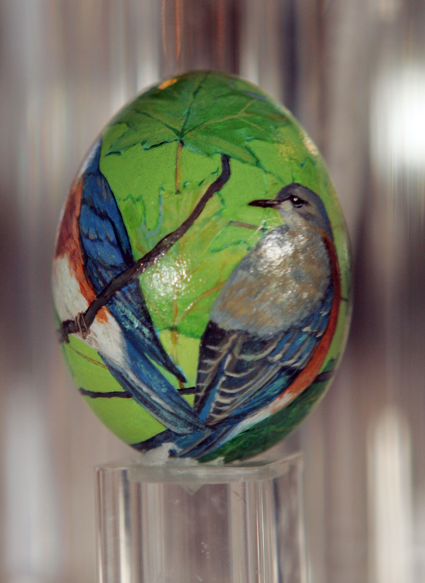 painted egg by Ms. Elizabeth Kolligs, Glen Cove, NY