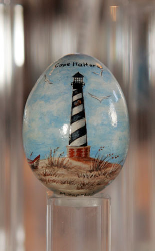 painted egg by Ms. Margaret A. Vopelak, Cary, NC