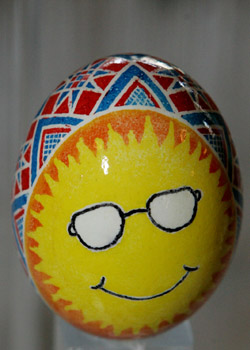 Painted egg by William Johnson