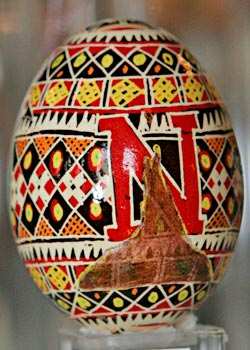 Painted egg by Grace Adams