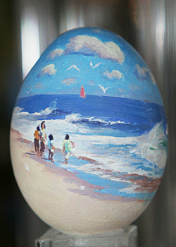 Painted egg by Michael Budden