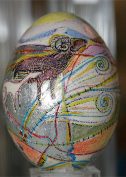 Painted egg by Bobbie Ann Howell