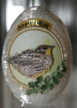 Painted egg by Diane M. Angle