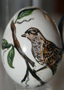 Painted egg by Nancy Whiteside