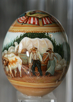 Painted egg by Carolyn Kemp