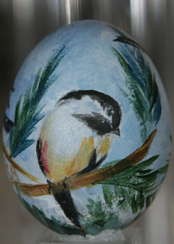 Painted egg by Shirley Barhaug