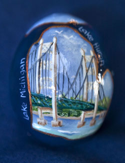 Painted egg by Deborah Malewski
