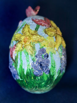 Painted egg by Barbara Lee Watkins