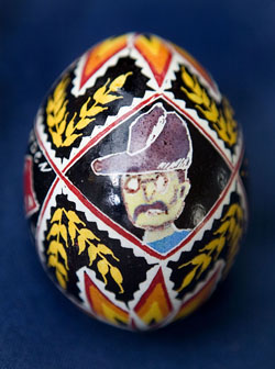 Painted egg by Betty L. Klym