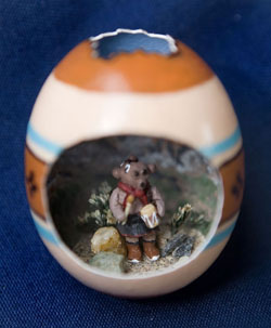 Painted egg by Sharon Locke