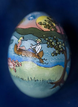 Painted egg by Elizabeth Seibold