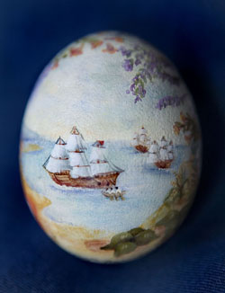 Painted egg by Carolyn Spencer