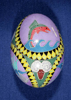 Painted and Decorated Egg Representing Colorado