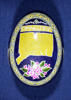 Painted and Decorated Egg Representing Connecticut