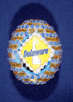 Painted and Decorated Egg Representing Delaware