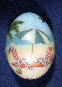 Painted and Decorated Egg Representing Florida