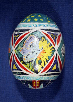 Painted and Decorated Egg Representing Indiana