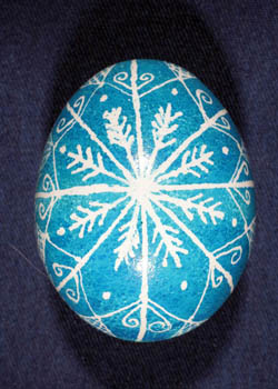 Painted and Decorated Egg Representing Maine
