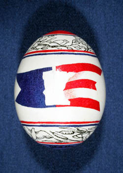 Painted and Decorated Egg Representing Minnesota