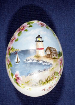 Painted and Decorated Egg Representing New Jersey