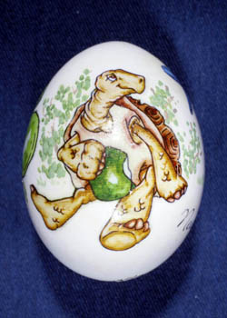 Painted and Decorated Egg Representing Nevada
