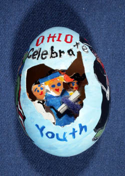 Painted and Decorated Egg Representing Ohio
