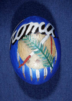 Painted and Decorated Egg Representing Oklahoma