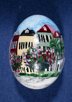 Painted and Decorated Egg Representing South Carolina