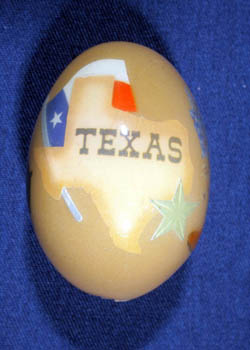 Painted and Decorated Egg Representing Texas