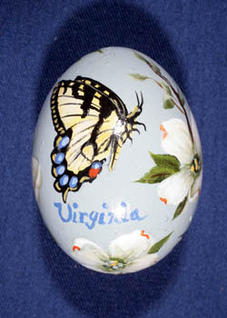 Painted and Decorated Egg Representing Virginia