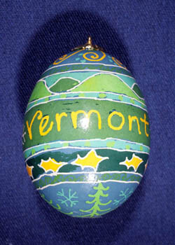 Painted and Decorated Egg Representing Vermont