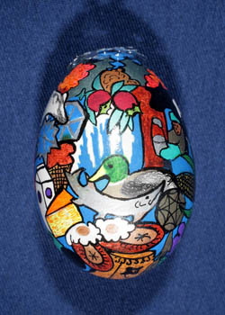 Painted and Decorated Egg Representing Wisconsin