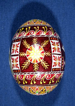 Painted and Decorated Egg Representing Wyoming
