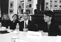 National Security Advisor Condoleeza Rice meets with the Fellows in January.