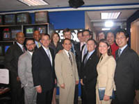 2006-2007 Fellows meet with Brit Hume at the FOX News studios