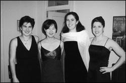 Fellows Mini Ghez, Katie Hong, Kathy Ward, and Lee McGoldrick before the Inaugural Ball.