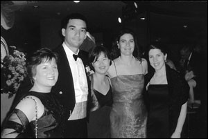 Enjoying the Inaugural Ball: Colleen Lussier (David's wife), Pat Piercey, Katie Hong, Kathryn Allen and Lee McGoldrick