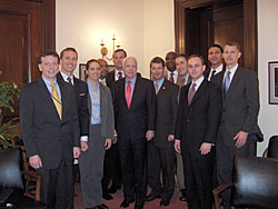 White House Fellows visit Senator McCain on the Hill.
